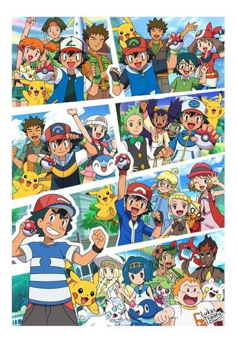 impresión foto - poster pokémon 60 x 90 cm
