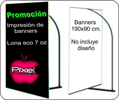 impresión gigantografías ploteos lona vinilo banners pixel