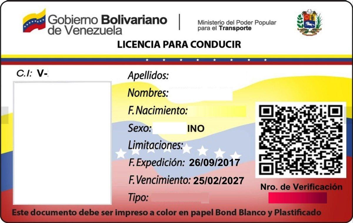 Licencia De Conducir Digital: Impresión Licencia De Conducir En Pvc Full Color Pto