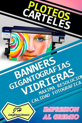 impresión m2 lona front 13oz banner gigantografia plotter