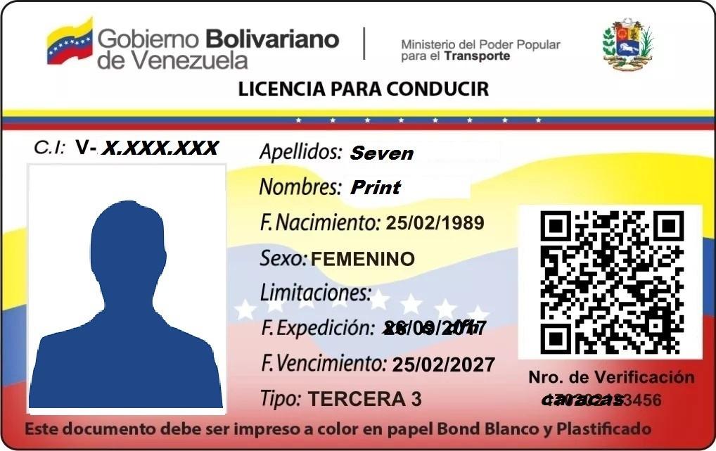 Licencia De Conducir Digital: Impresion Para Licencias De Conducir En Pvc