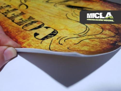 impresión ploteo en cuerina. precio metro lineal 137x100cm