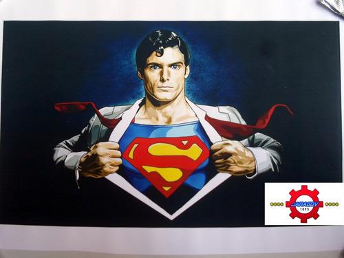 impresion sobre lienzo superman 12x20 pulgadas - dc comics