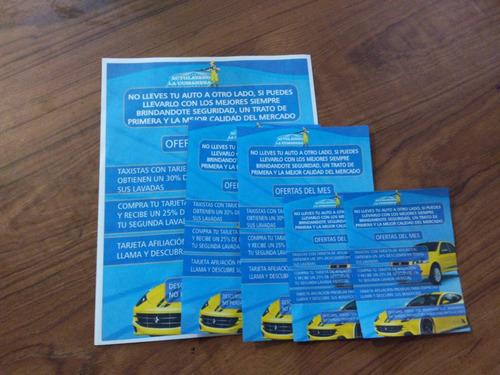 impresion volantes 1/4 carta full color  afiche trabajo 100u