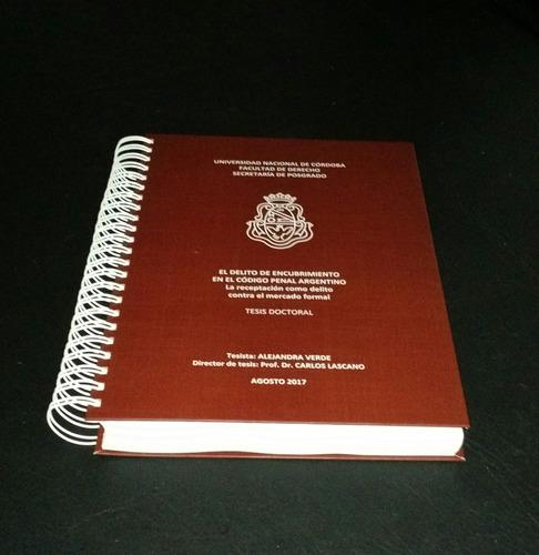 impresión y encuadernación de tesis - flores,  c.ab.a.