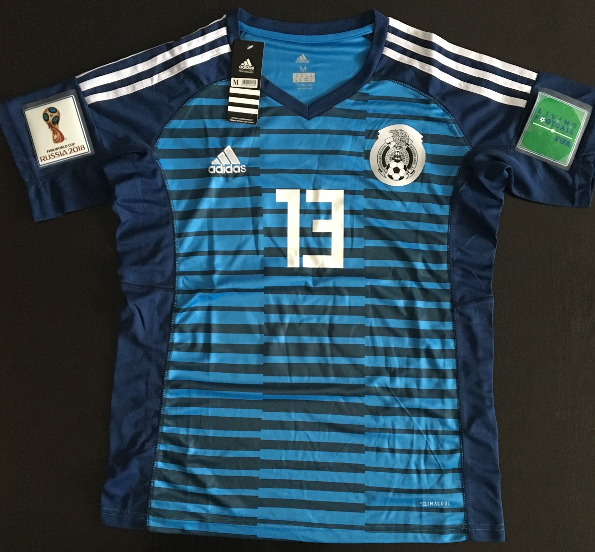 eaba888a551fd impresionante jersey portero mexico azul parches 2018 ochoa. Cargando zoom.
