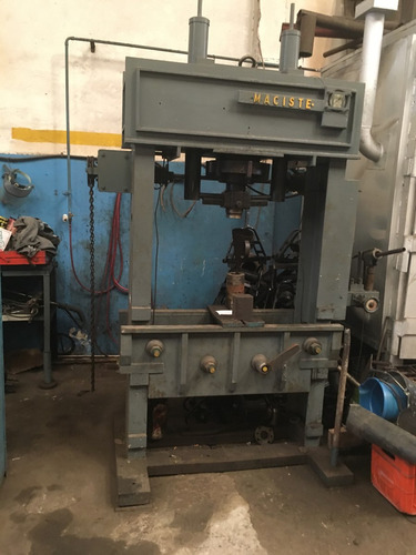 impresionante prensa taller maciste 100 toneladas,mesa movil
