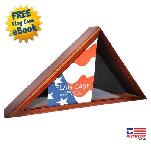 impresionante vitrina de banderas de madera de patriot fl...