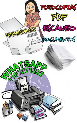 impresiones ,bajada de pdf, documentos