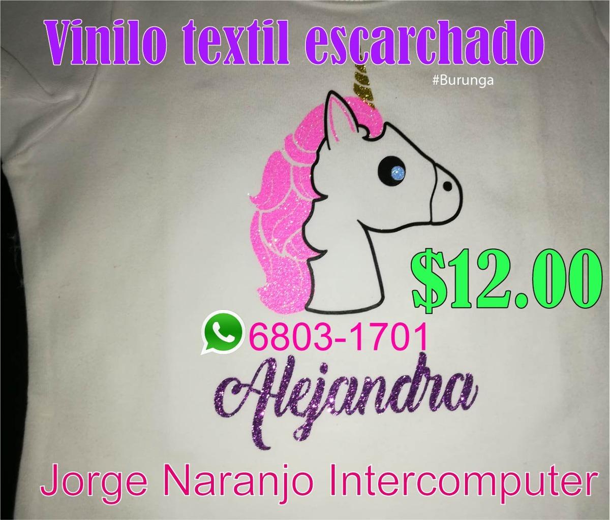 Impresiones En Vinilo Textil Escarchado Unicornio - Niñas - - en ...