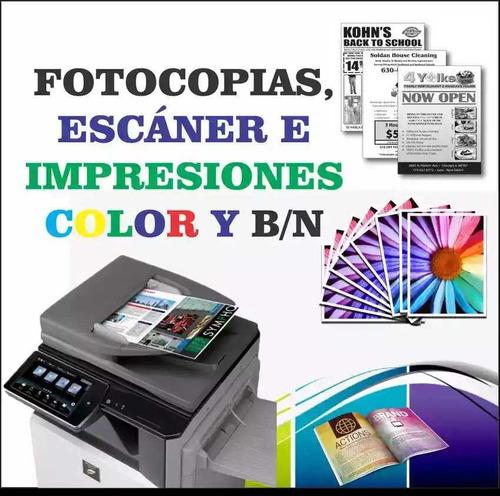 impresiones, fotocopias, elaboración de cartas
