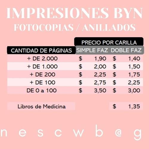impresiones láser byn /color pdf, word , fotocopias ! a4, a3