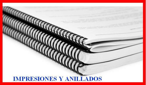 impresiones y anillados blanco y  negro bajadas  pdf, word