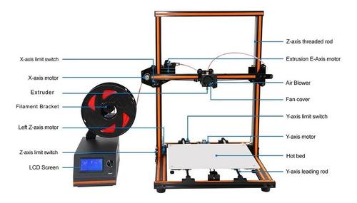 impresora 3d anet e12 aluminio 30x40 kit diy prusa i3 reprap