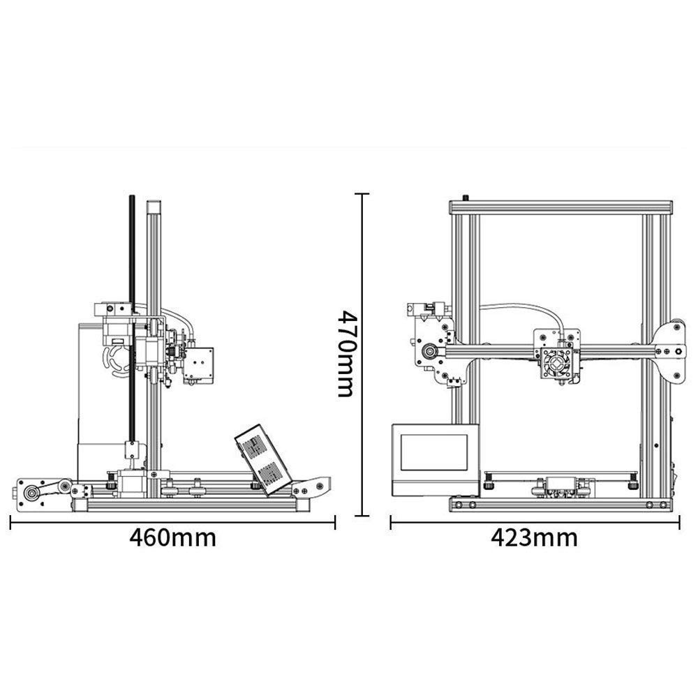Impresora 3d Mini Pantalla Táctil - Tronxy Xy-2 2019