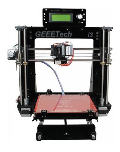impresora 3d prusa i3 componentes en acero - marco acrílico