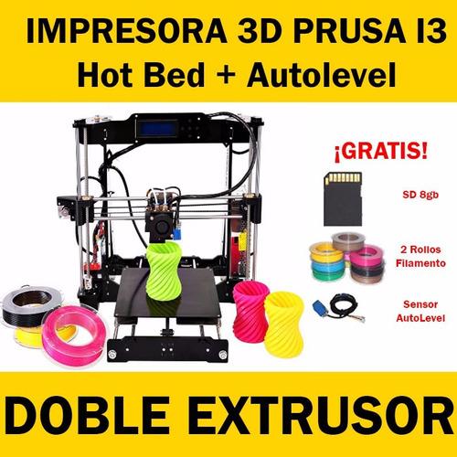 Impresora 3d prusa i3 laser doble extrusor autonivel for Impresora 3d laser