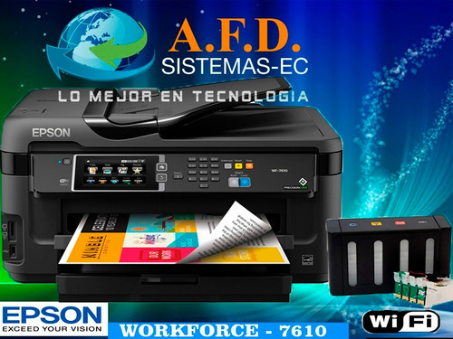 impresora a3 epson wf7610 o wf7710 con sistema tinta continu