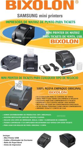 impresora bixolon srp275 aug de matriz para punto de venta