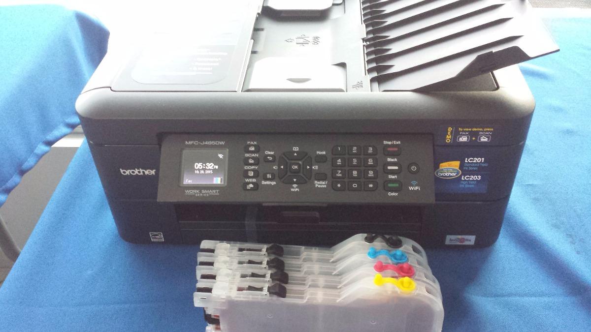 Impresora Brother Mfc J480 485dw Cartuchos Recarg