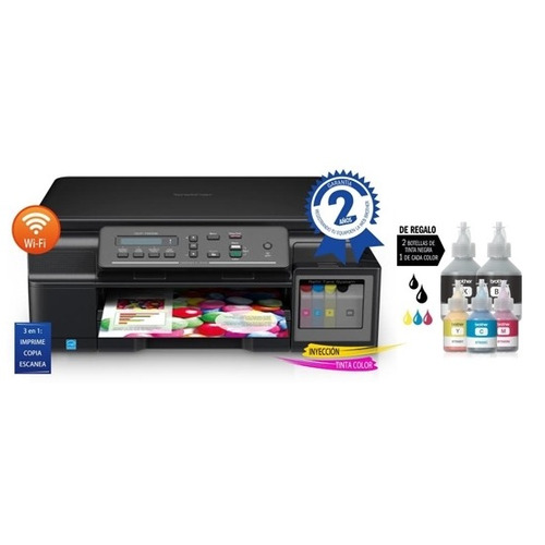 impresora brother t510. wifi, tinta contínua, multifunción