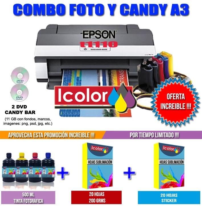 Impresora Candy Bar A3 Epson T1110 + Kit Fotografico + Curso ... 4c71473fd1a