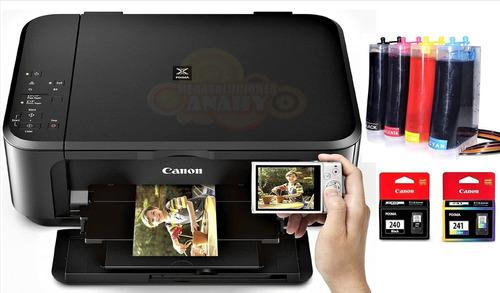 impresora canon 3620 +sistema continuo, wifi + litro tinta