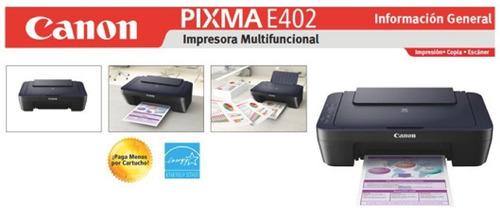 impresora canon e402 + ciss delivery gratis