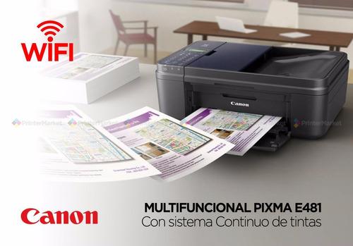 impresora canon e481 con sistema de tintas 70 ml+obsequio