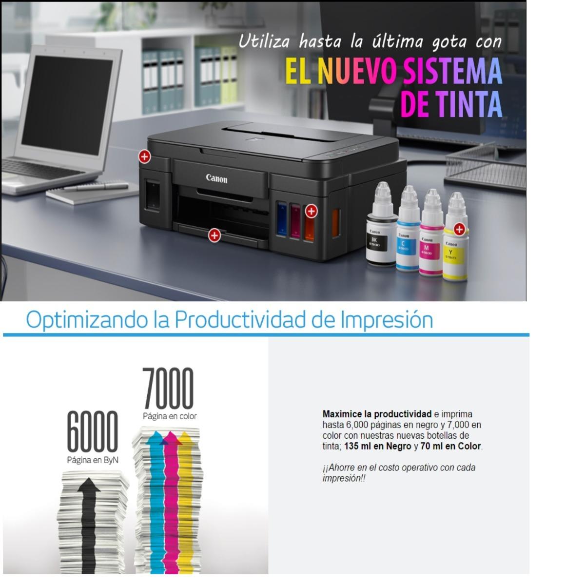 Impresora Canon G1100 Sistema De Tinta Continuo 2 500