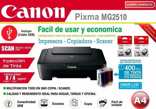 impresora canon multifuncional con sistema continuo faber