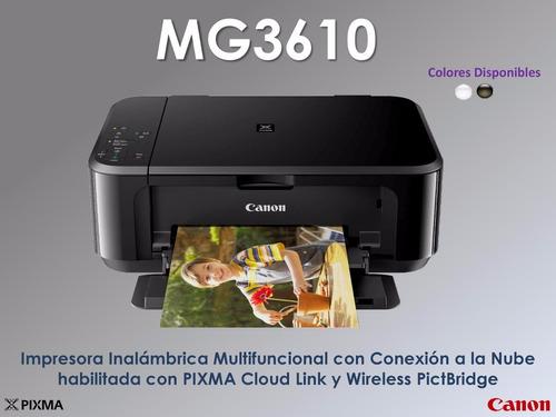 impresora canon multifuncional mg3610 wifi usb 3.0 duplex