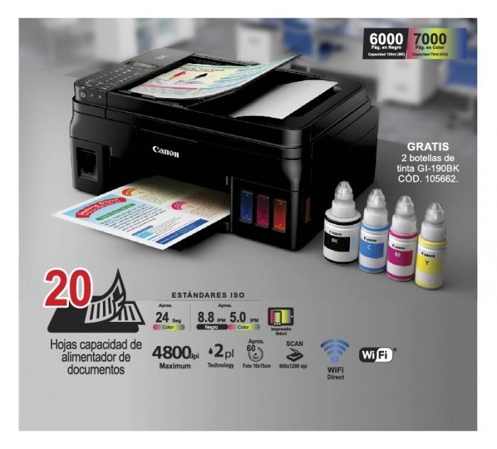 Impresora Canon Pixma G4100 160 000 En Mercado Libre