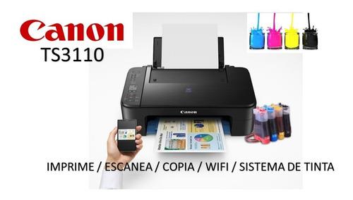 impresora canon ts3110 wifi con sistema continuo instalado
