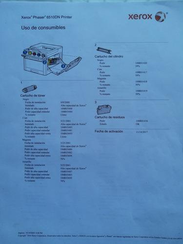 impresora color xerox phaser 6510 dn muy buena