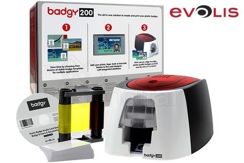 impresora de carnet badgy 200 + cinta color + 100 tarjetas