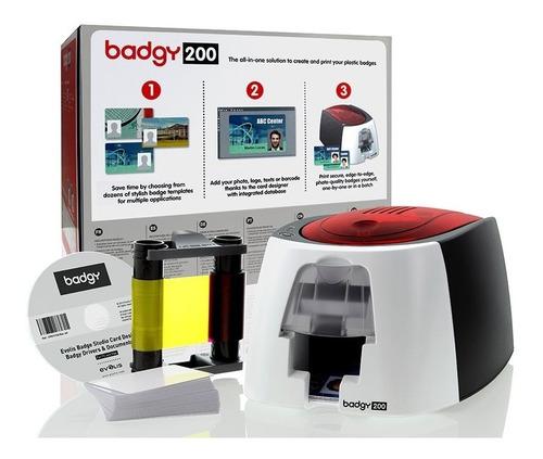 impresora de credenciales badgy200 evolis envio gratis