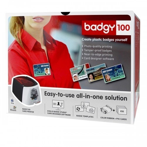 impresora de credenciales y tarjetas pvc badgy 100 by evolis