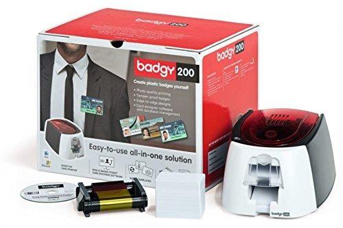 impresora de etiquetas evolis badgy200 single-sided id card