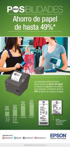 impresora de recibos termica epson tmt-20 pos usb y serial