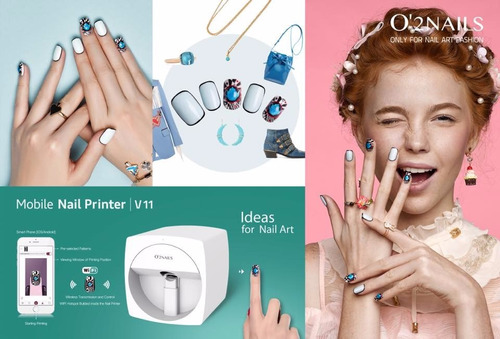 impresora de uñas o2nails version 2018 portable