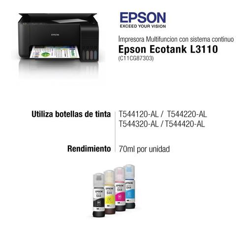 impresora epson ecotank l3110 mfp  ecotank sistema continuo