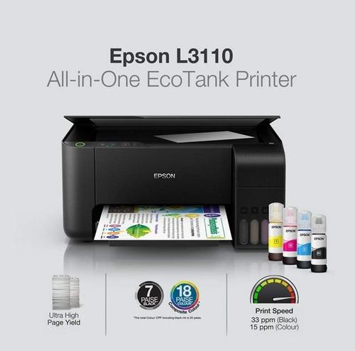 impresora epson ecotank l3110 multifuncion fotografica imprime, copia, escanea