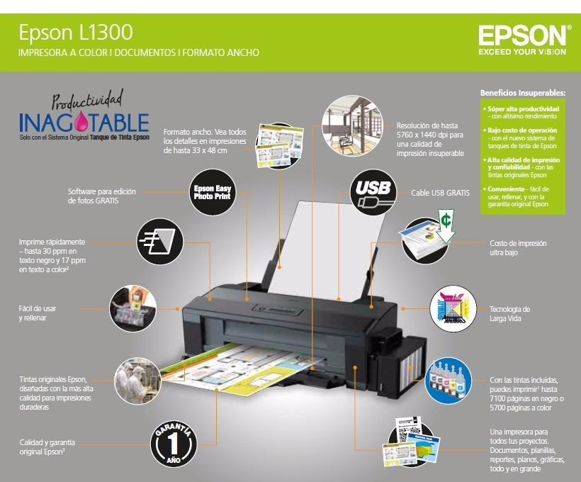 Epson EcoTank L1300 Single Function InkTank A3 Printer | Ink Tank