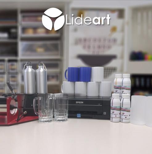 impresora epson l310 + plancha p/tazas + consumibles