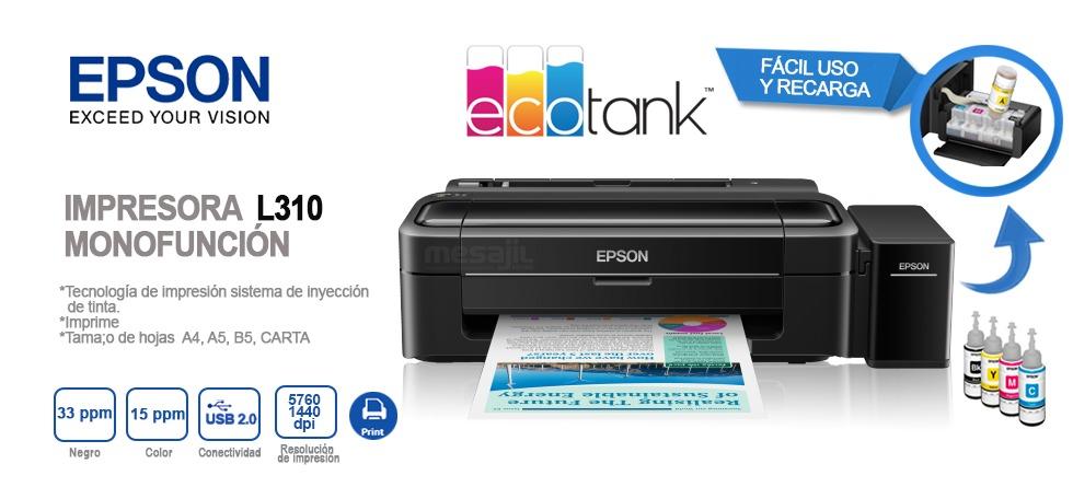 Impresora Epson L310 Tinta Continua Compatible C