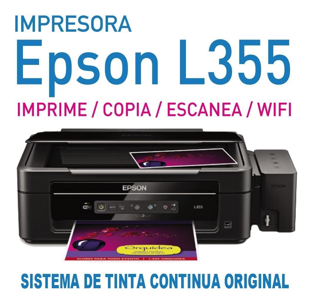 bajar software de impresora epson l355
