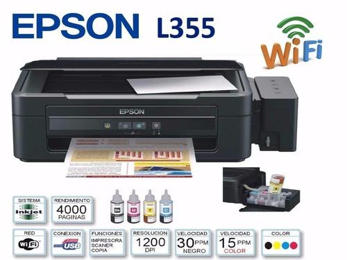 impresora epson l355 - sistema continuo - muy buen estado