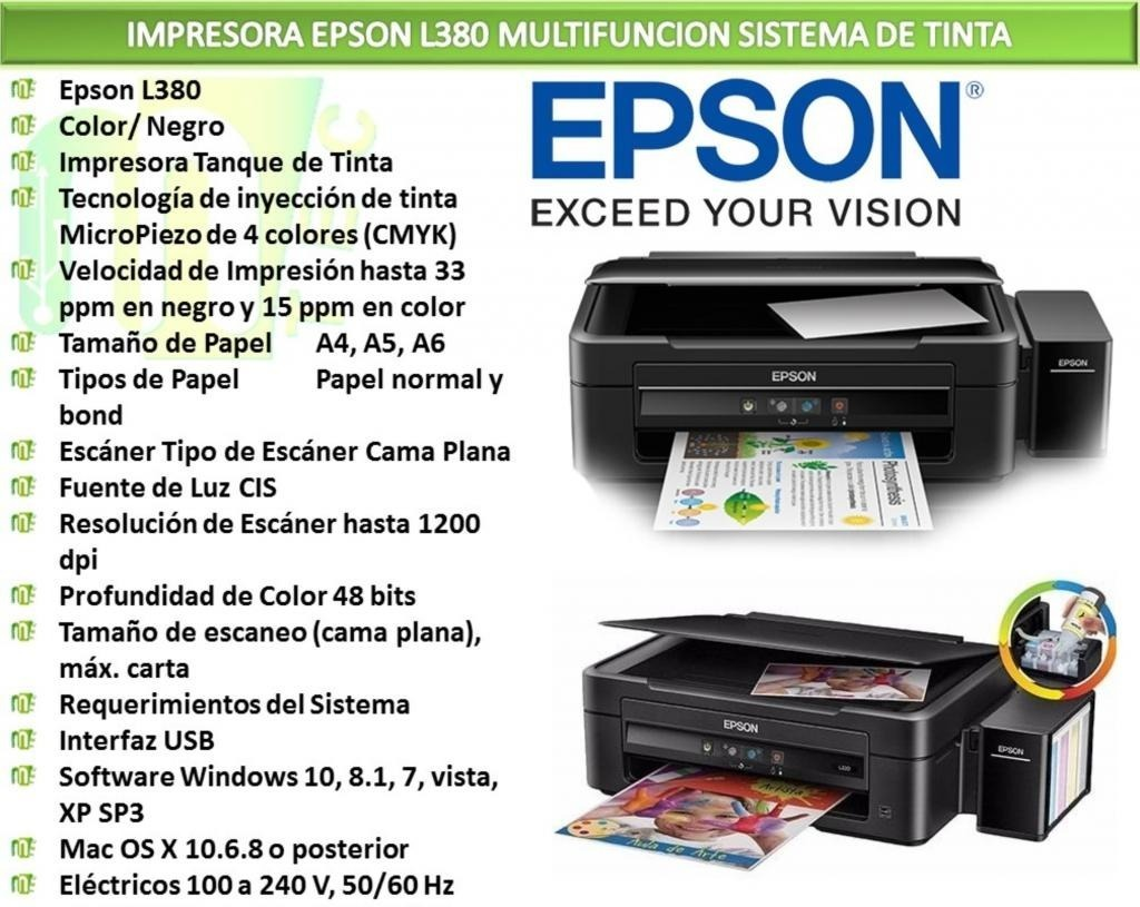 Epson L380 Driver Download Windows 10