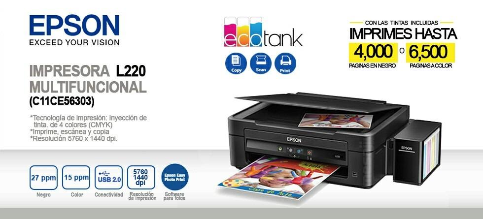 Impresora Epson L380 Multifuncional Tinta Contin 250 A Bs